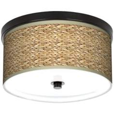 "Seagrass Bronze Energy Efficient 10 1/4"" Wide Ceiling Light"