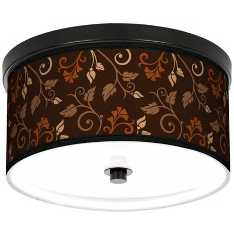 "Foliage 10 1/4"" Wide CFL Bronze Ceiling Light"