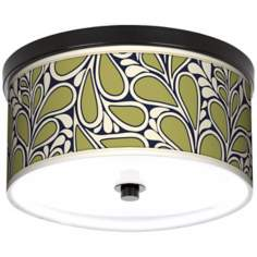 "Stacy Garcia Rain Metal 10 1/4"" Wide Bronze Ceiling Light"
