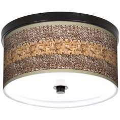 "Woven Fundamentals 10 1/4"" Wide CFL Bronze Ceiling Light"
