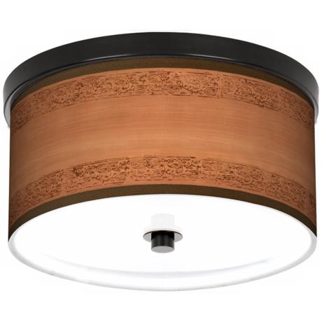 "Paisley Trim Bronze 10 1/4"" Wide Ceiling Light"