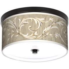"Laurel Court Bronze 10 1/4"" Wide Ceiling Light"