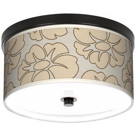 "Floral Silhouette 10 1/4"" Wide CFL Bronze Ceiling Light"