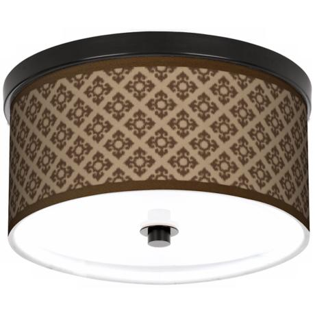 "Grevena Giclee 10 1/4"" Wide CFL Bronze Ceiling Light"