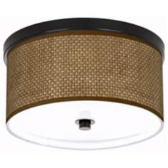 "Interweave Giclee 10 1/4"" Wide CFL Bronze Ceiling Light"
