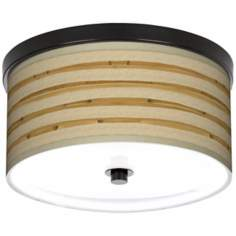 "Bamboo Wrap Giclee Bronze 10 1/4"" Wide Ceiling Light"
