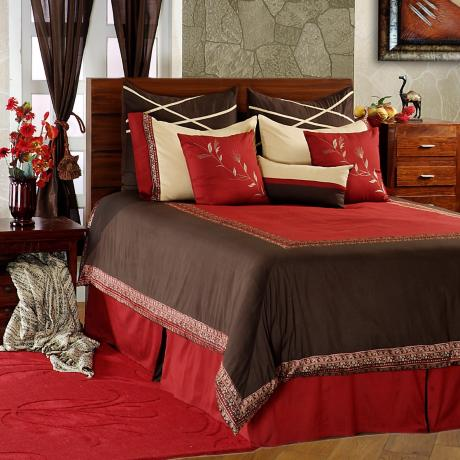 Crimson Comforter Bedding Set