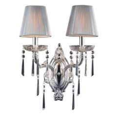 "Princess Collection 14"" High 2-Light Wall Sconce"