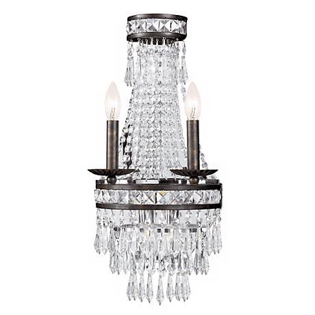 "Mercer Collection Crystal 22"" High 2-Light Wall Sconce"