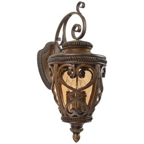 "French Quarter Antique Brown 32"" High Outdoor Wall Light"