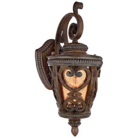 "French Quarter Antique Brown 18 1/2"" High Outdoor Wall Light"