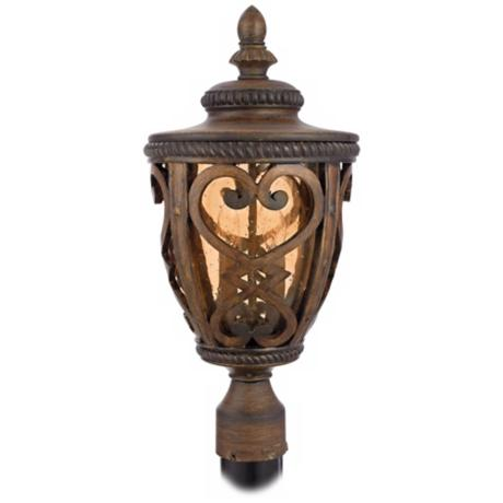"French Quarter Antique Brown 21"" High Outdoor Post Light"