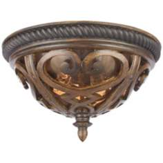 "French Quarter Antique Brown 13"" Wide Ceiling Light"