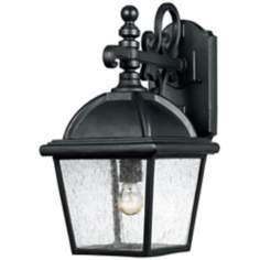 "Hampton Collection Black 22 1/2"" High Outdoor Wall Light"