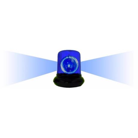 Blue Spinning Police Beacon Light