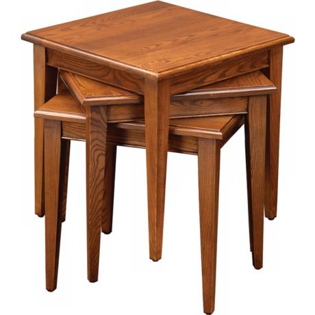 Favorite Finds Medium Oak Finish Stacking Set of 3 Tables