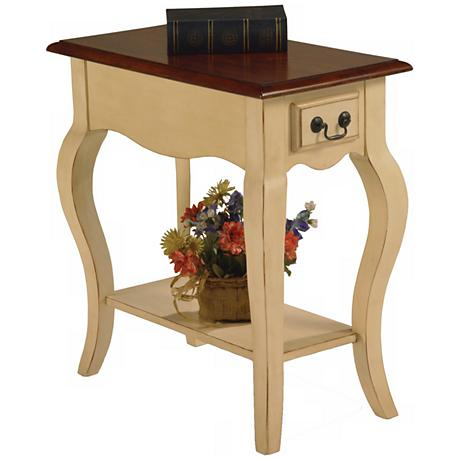 Favorite Finds Ivory Finish Side Table