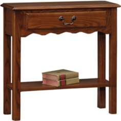 Favorite Finds Medium Oak Finish Wave Side Table