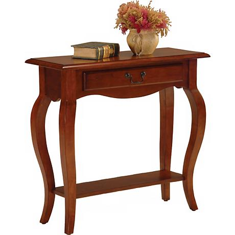 Favorite Finds Brown Cherry Finish Console Table