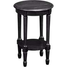 Favorite Finds Slate Finish Round Fluted Table