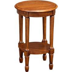 Favorite Finds Walnut Finish Round Fluted Table