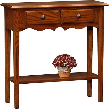Favorite Finds Medium Oak Finish Petite Console Table