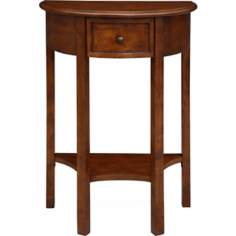 Favorite Finds Pecan Finish Demilune Table