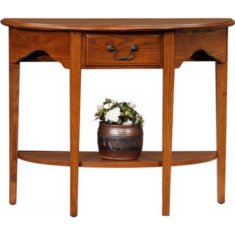 Favorite Finds Medium Oak Finish Demilune Table
