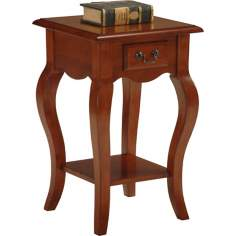 Favorite Finds Brown Cherry Finish Square Side Table