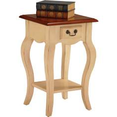 Favorite Finds Ivory Finish Square Side Table
