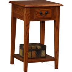 Favorite Finds Medium Oak Finish Square Side Table
