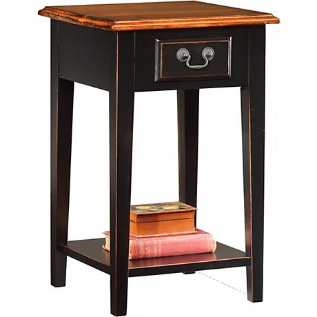 Favorite Finds Slate Finish Square Side Table