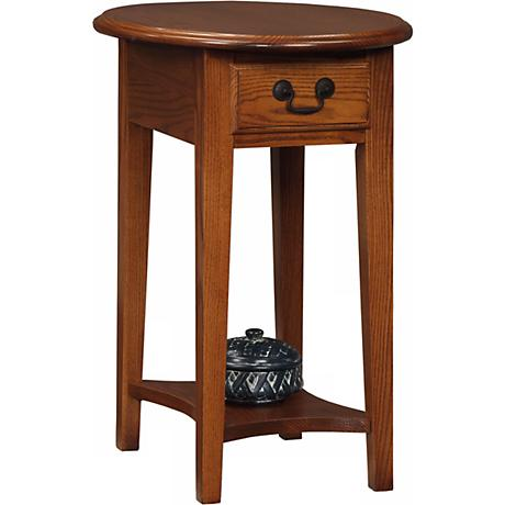 Favorite Finds Medium Oak Finish Oval Side Table
