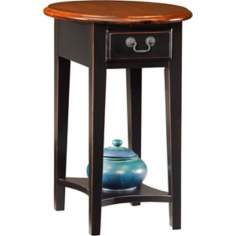 Favorite Finds Slate Finish Oval Side Table
