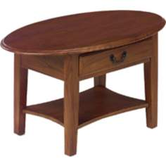 Favorite Finds Medium Oak Finish Oval Coffee Table