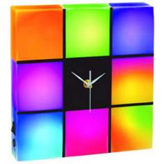 "Cresta LED Color Changing Panel 10"" Wide Clock"