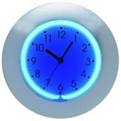 "Blue or Pink Neon 12"" Wide Wall Clock"