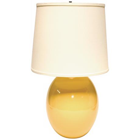 Haeger Potteries Saffron Yellow Ceramic Egg Table Lamp