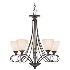 "Denmark Teco Marrone Finish 25 1/2"" Wide Chandelier"
