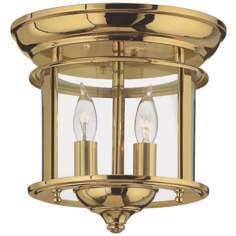 "Hinkley Gentry Collection Brass 9"" Wide Ceiling Light"
