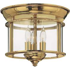 "Hinkley Gentry Collection Brass 11"" Wide Ceiling Light"