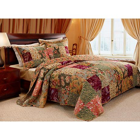 Flowering Gardens Quilt Bedding Set