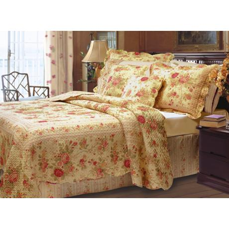 Charming Roses Quilt Bedding Set
