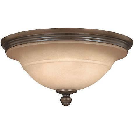 "Plymouth Collection Olde Bronze 17 1/2"" Wide Ceiling Light"