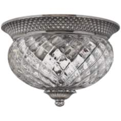 "Plantation Collection Antique Nickel 12"" Wide Ceiling Light"