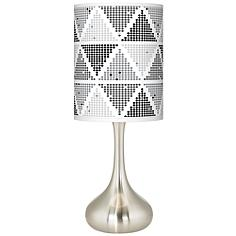 Pointillism Giclee Droplet Table Lamp