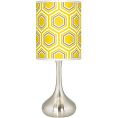 Honeycomb Giclee Kiss Table Lamp