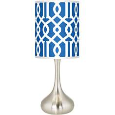 Chain Reaction Giclee Kiss Table Lamp