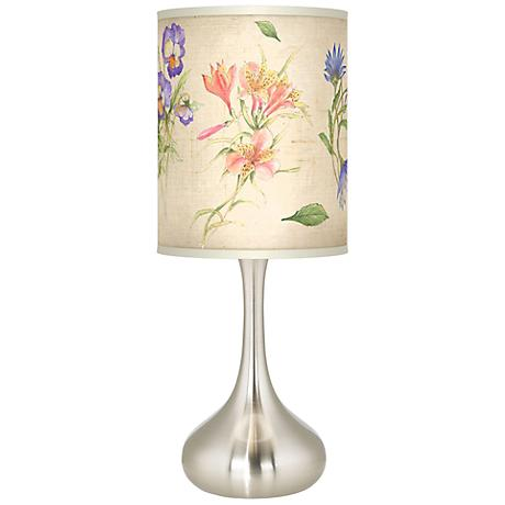 Floral Fancy Giclee Kiss Table Lamp