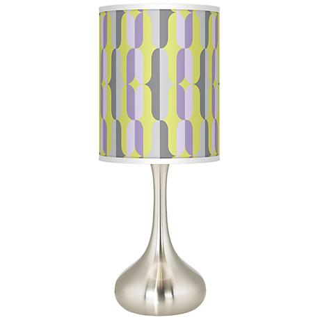 Side By Side Giclee Kiss Table Lamp